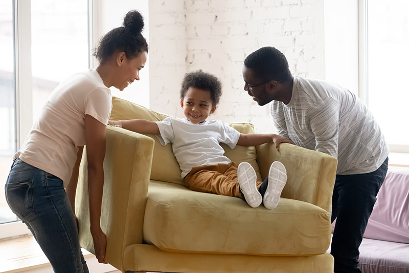 Peace of Mind: family playing with child